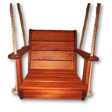 "Image of 16"" Mahogany Chair Rope Swing"