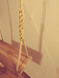 Cypress wood swing rope