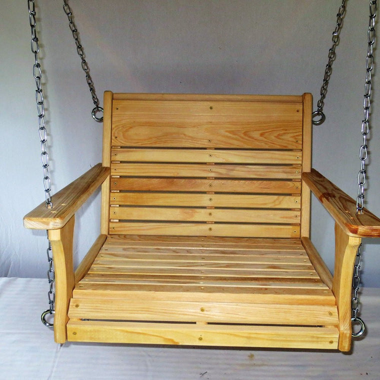 Cypress Wood Chair Swing, Larger Adult Chair Swing