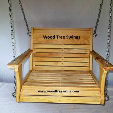 Image of engraved rope chair swing