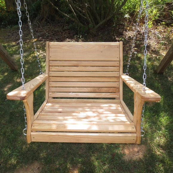 Cypress Wood Chair Swing/22 Inch Seat