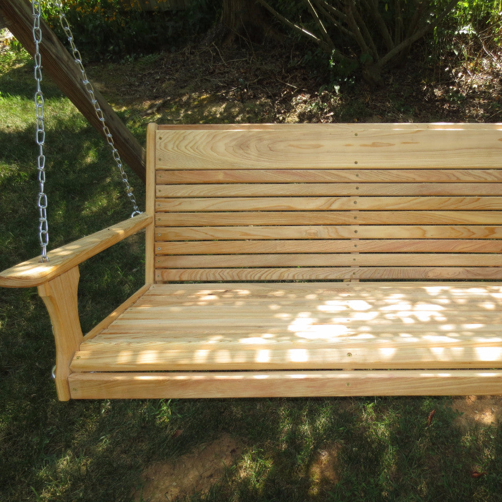 Cypress Larger Porch Swing  Free Engraving  for a limited time