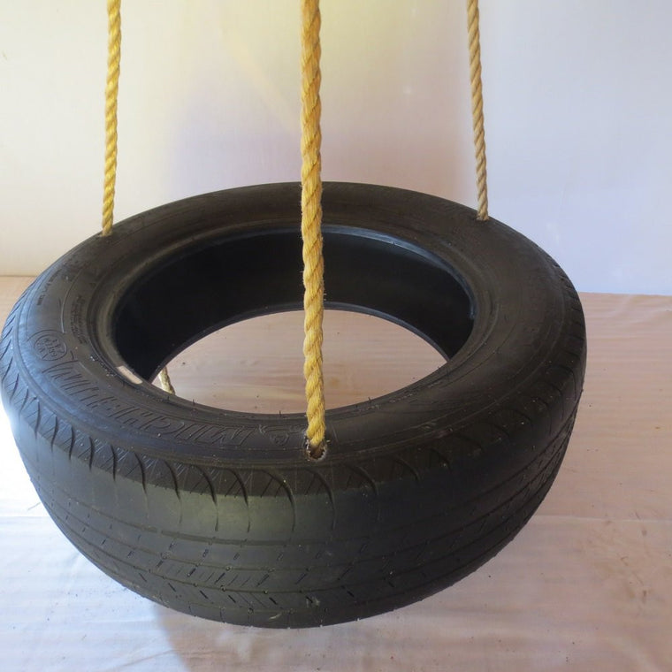 Deluxe Spinning 3 Rope Tire Swing (10' of rope) with free Super Spinner and Hanging Kit