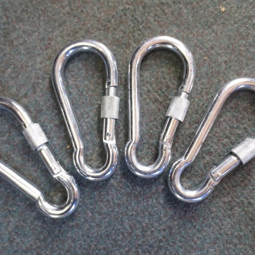 Carabiner Screw Lock Hooks 4 Pack