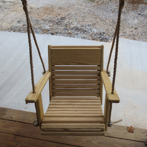 "22"" cypress chair rope swing"