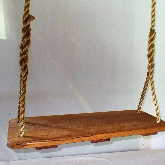 Classic Oak Wood Tree Swing