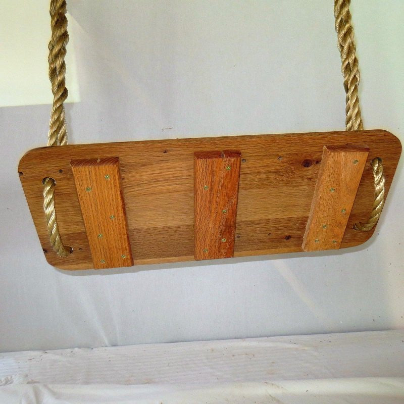 Classic Oak Wood Tree Swing,Free Engraving for a limited time