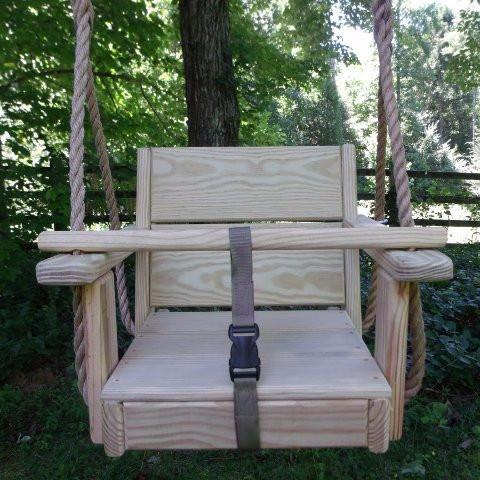 toddler wood swing
