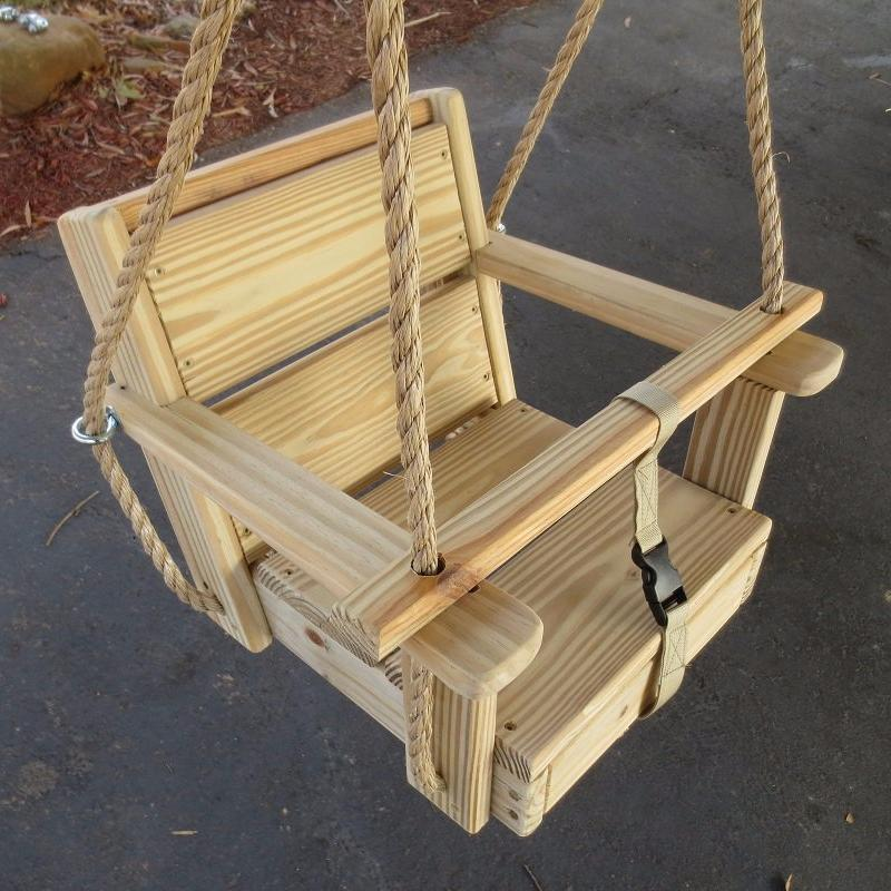Toddler Swing Cypress Wood