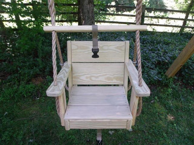 Toddler Swing with Safety Bar up