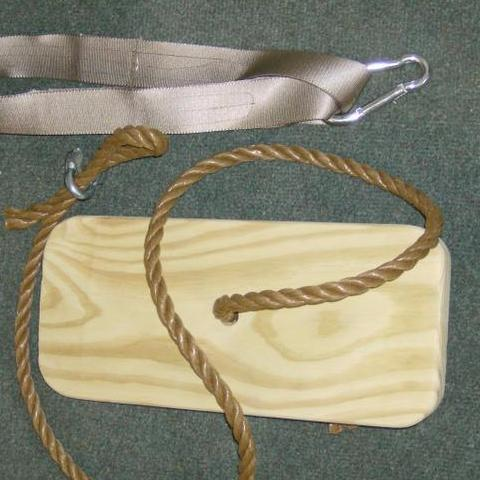 "15"" Whatchamacallit Wood Tree Swing and rope"