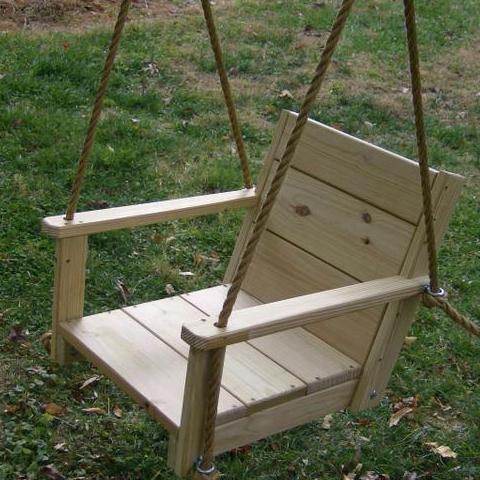 Chair Wood Tree Swing (16 Inch wide seat)