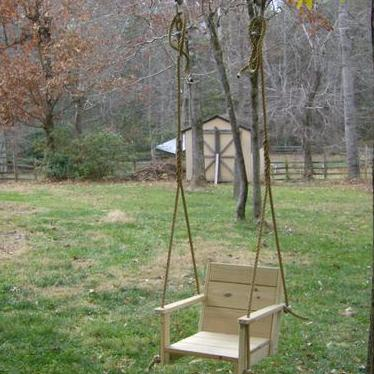 Chair Wood Tree Swing -16 Inch Wide Seat
