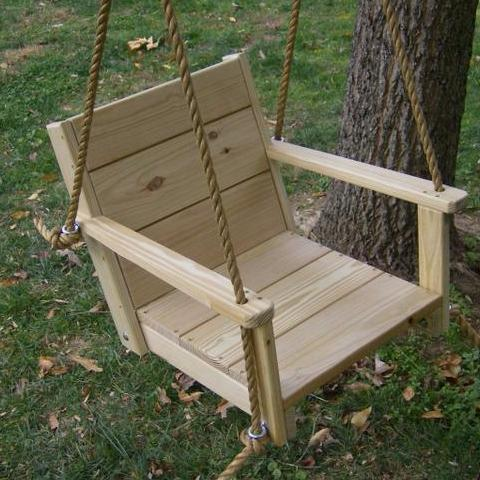 Image of rope chair tree swing
