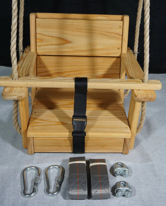 Toddler Swing Package with hanging kit and rope included