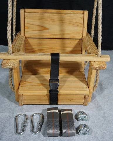 Image of Toddler Swing Package with hanging kit and rope included