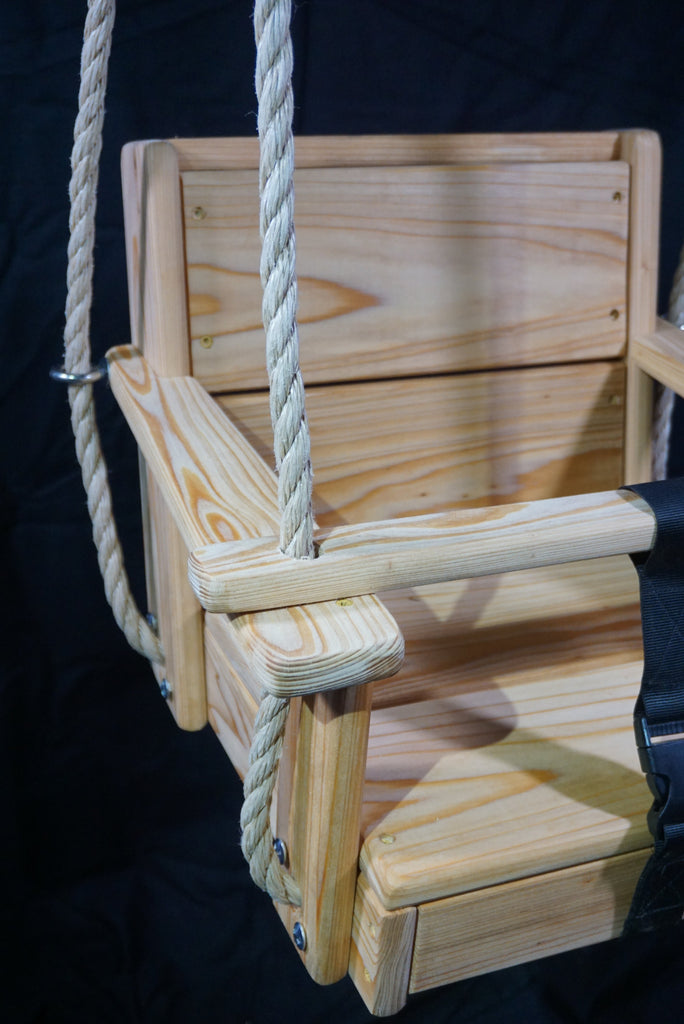 Side detail view of Toddler Swing