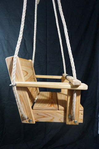 Profile view of Toddler Swing