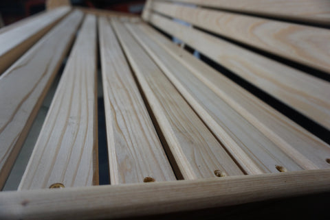 Image of Porch Swing Seat Wood Detail