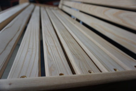 Porch Swing Seat Wood Detail