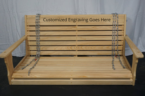 Image of Wooden Porch Swing Package