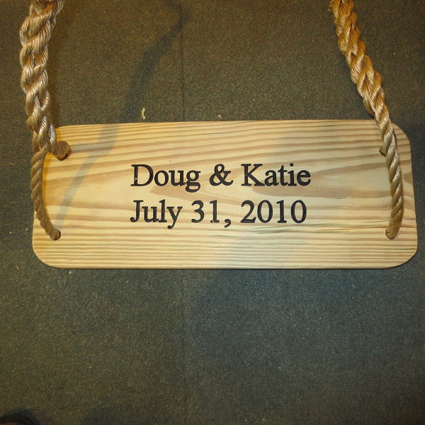 Premier Wood Tree Swing Free Engraving  for a limited time