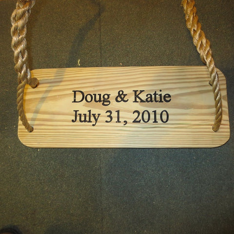 Image of Premier Wood Tree Swing Engraved