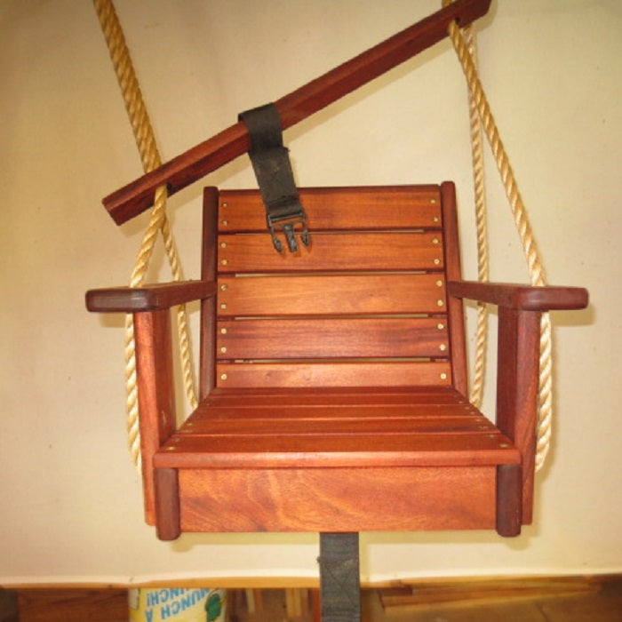 Wood Toddler Swing Mahogany Toddler Swing