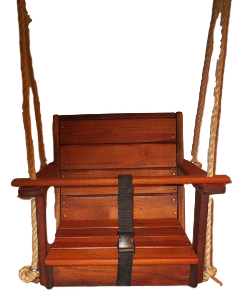 Special Needs Swing- Yard Therapy Swing/Mahogany Wood