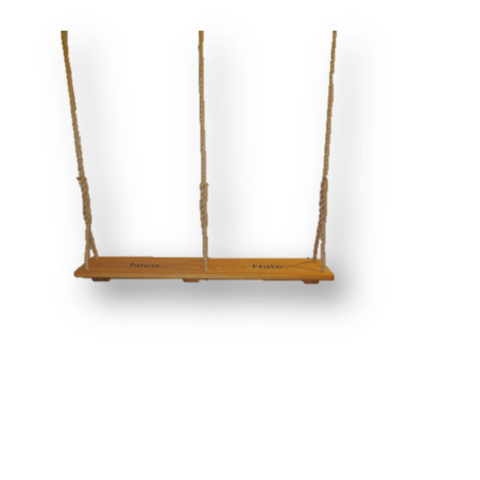 Image of Double Wooden Tree Swing