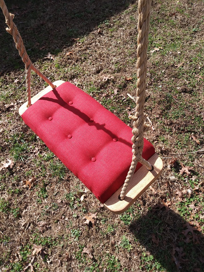 Wood Tree Swing Upholstered Indoor Outdoor