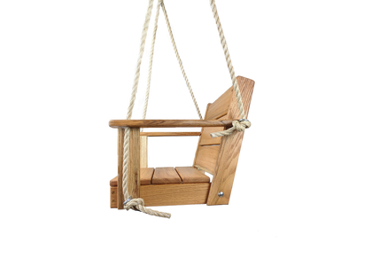 "Chair Wood Tree Swing can be used on your porch, patio, or you can hang in your favorite tree. Wood Chair Swing is made from Red Oak Wood, measures 16"" x 16"" x 15"" . Free Shipping in USA"