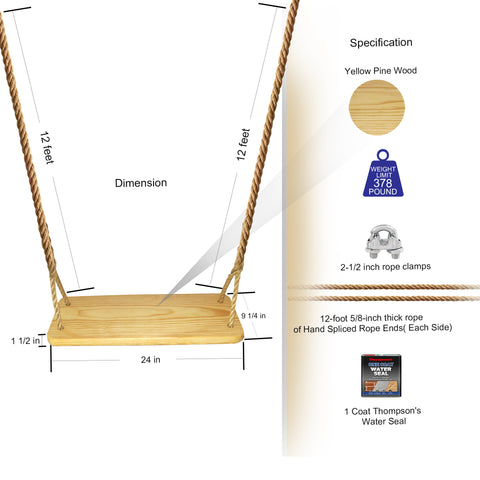 Image of Premier Wood Tree Swing Kit