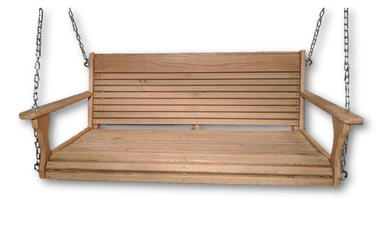 "48"" wide/19"" Deep Cypress porch swing"