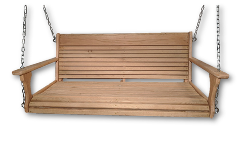 "Image of  48"" wide/19"" Deep Cypress porch swing"
