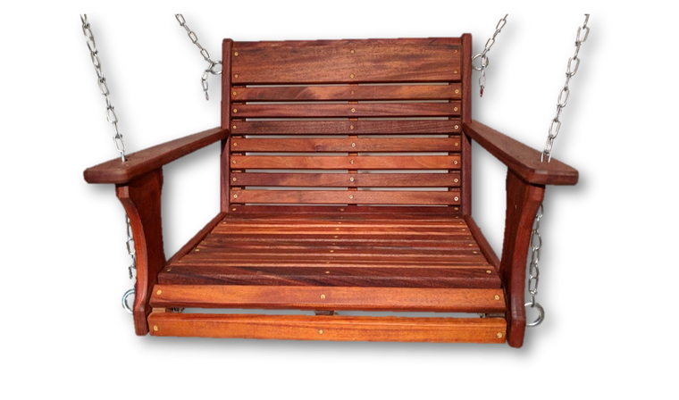 Mahogany Wood Chair Swing