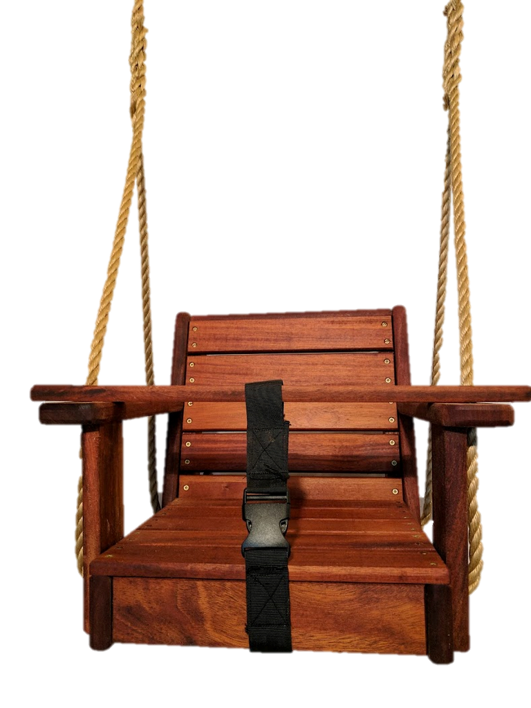 Mahogany  Toddler Wood Swing,Toddler Swing, Infant Swing Free Engraving use code 2018E at checkout