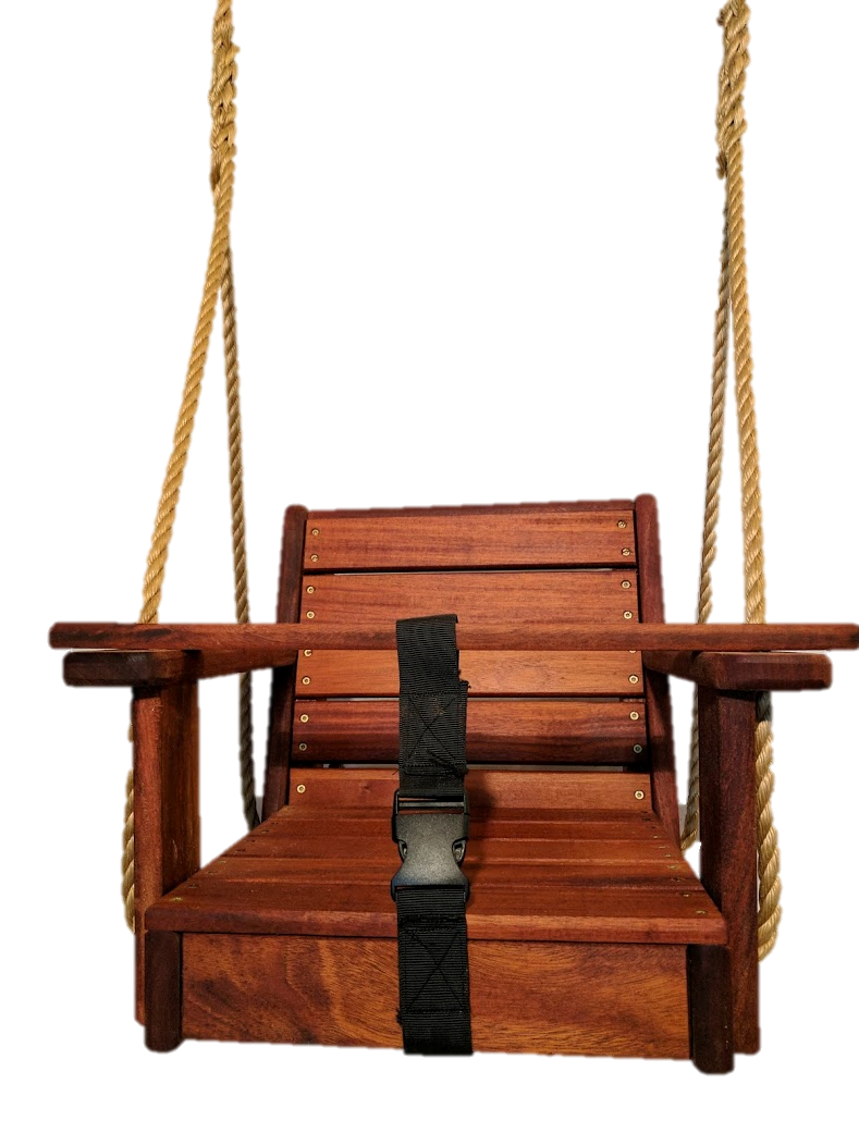 Mahogany Wood Toddler Swing