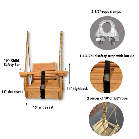 Image of Toddler Swing Dimensions