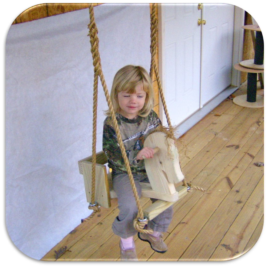 Toddler Horse Tree Swing