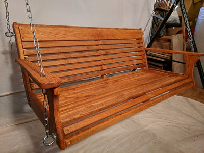 "Oak Porch Swing 48"" x 19"""