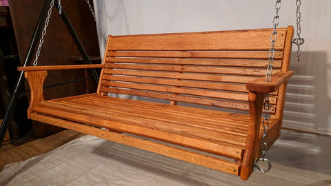 "Image of Oak Porch Swing 48"" x 19"""