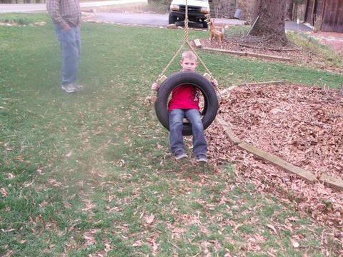 Recycled Tire Swing Rope Tire Swing