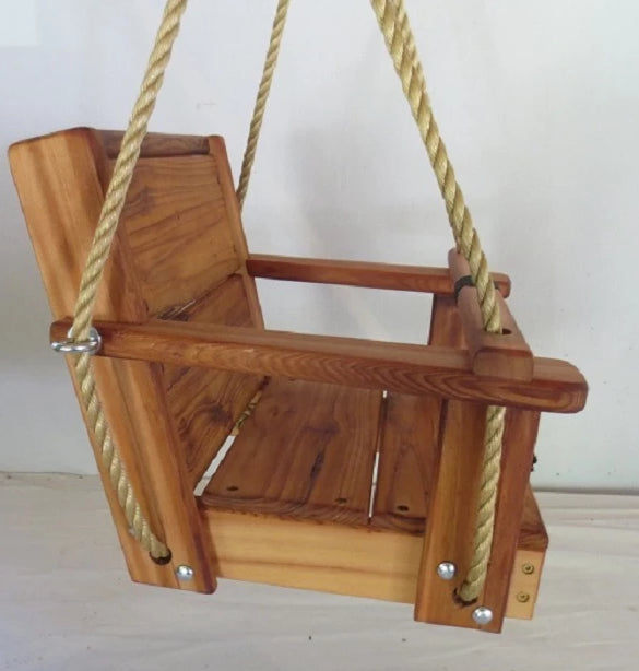 Red Oak Toddler Swing