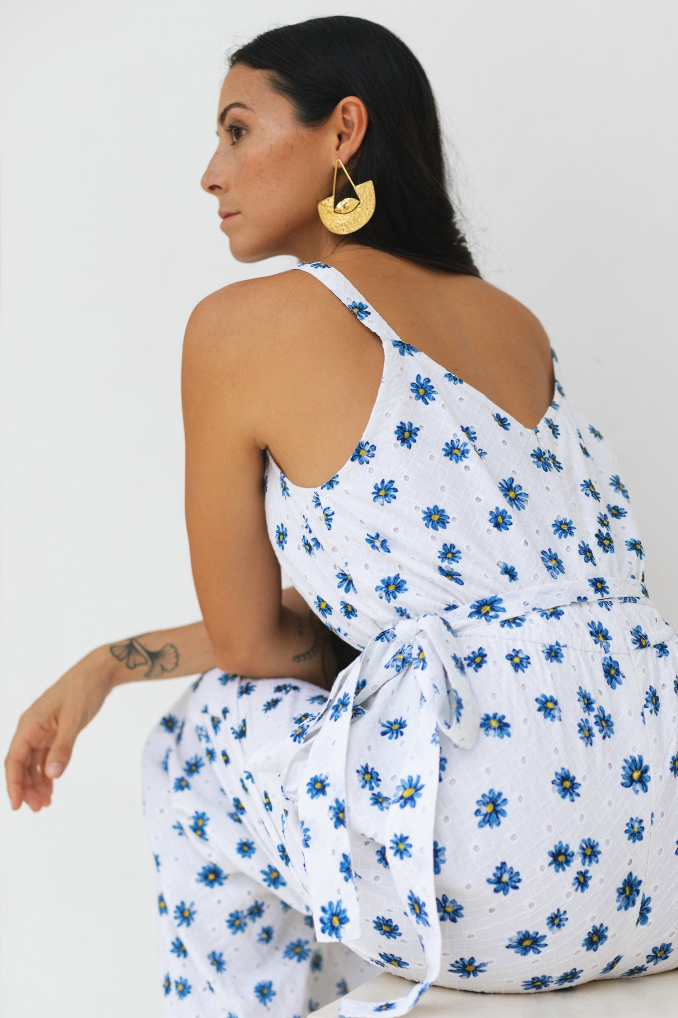 Ivory Daisy Day Jumpsuit