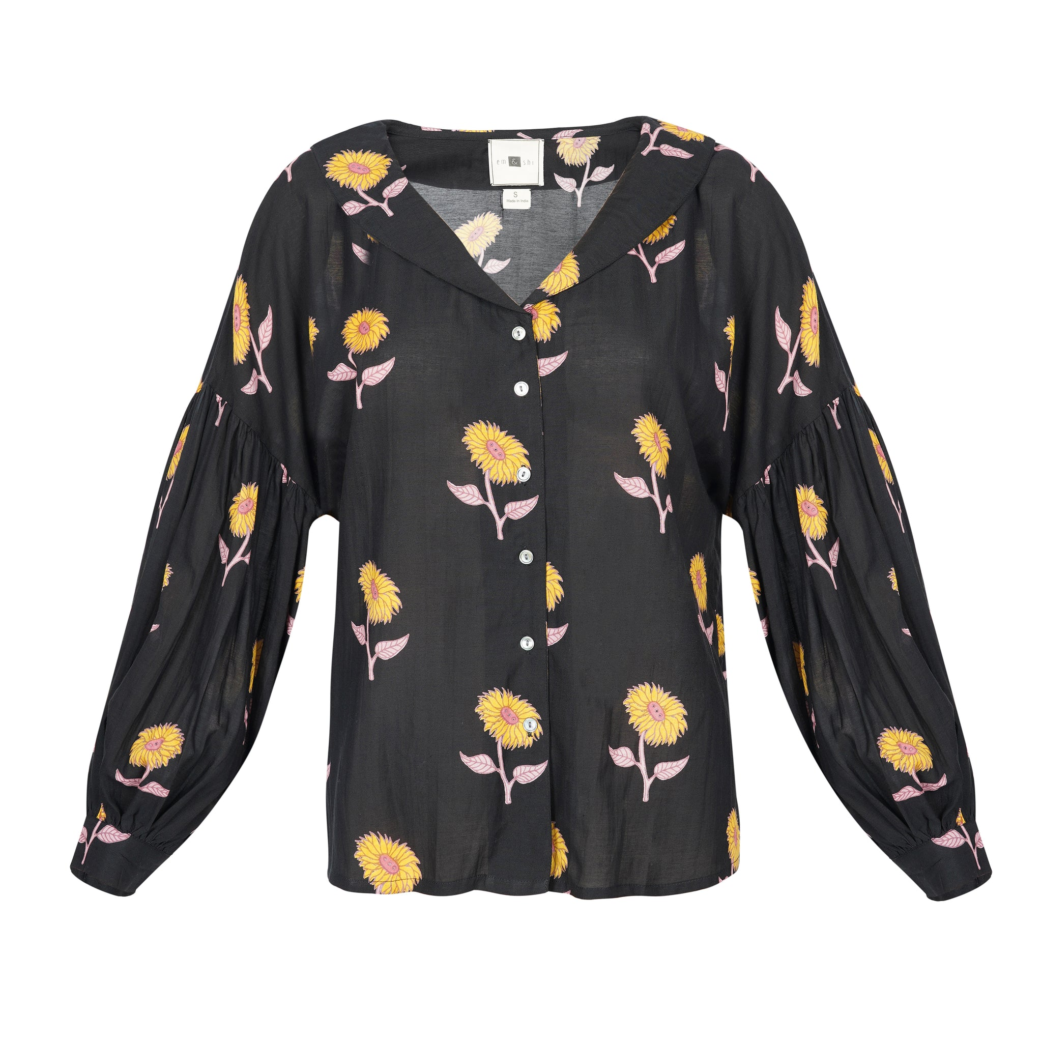 Sunflower Collared Top