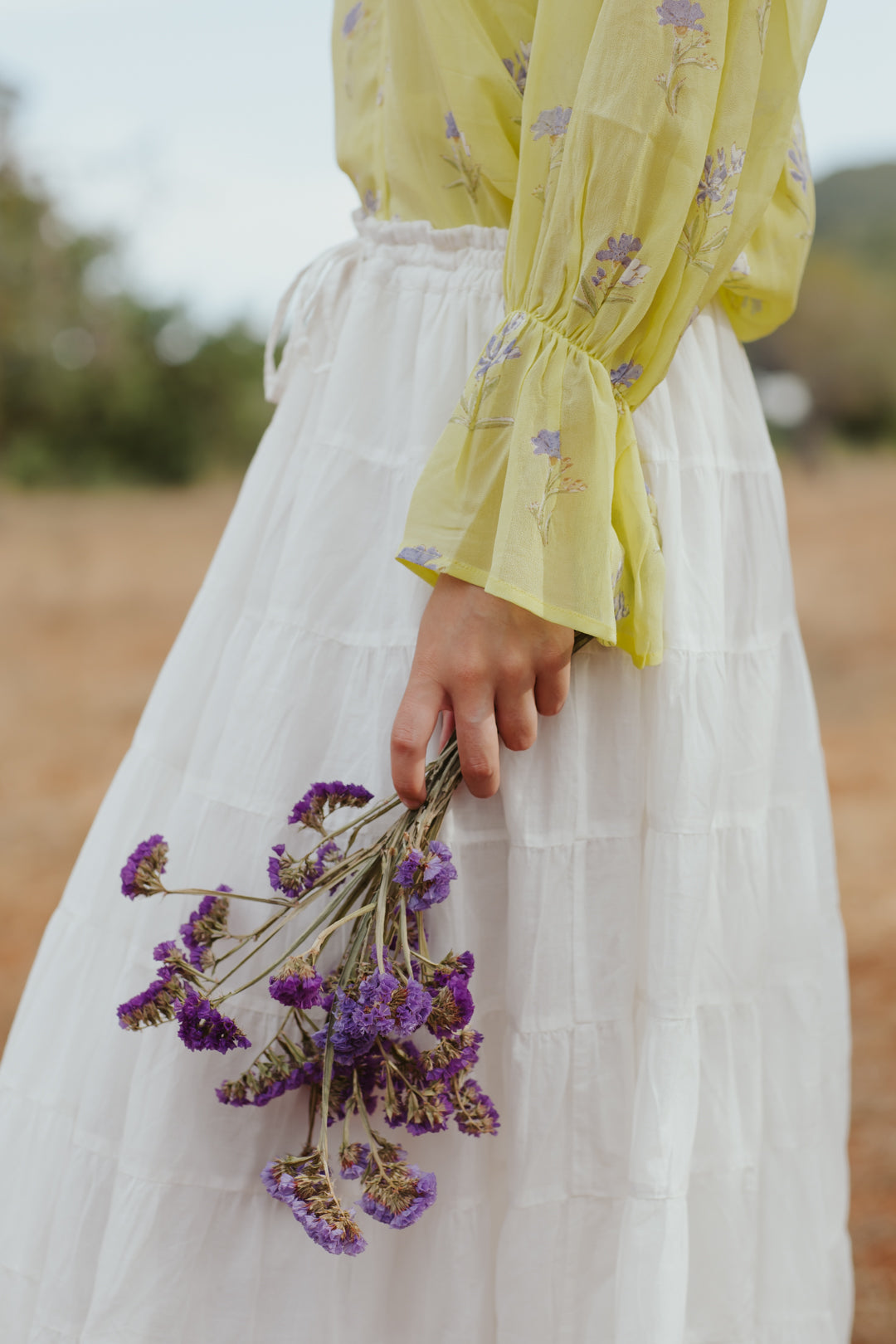 Lemon Lavender Frill Top