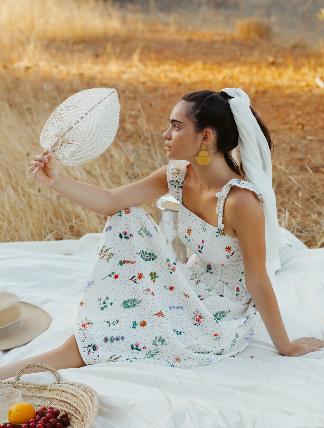 Summer Herbs Picnic dress