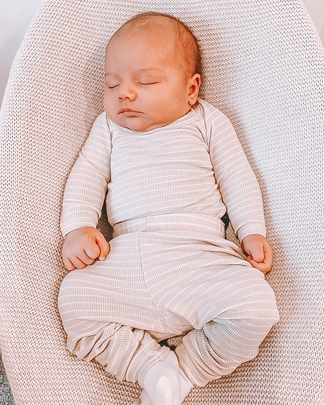 Baby romper and leggings ribbed