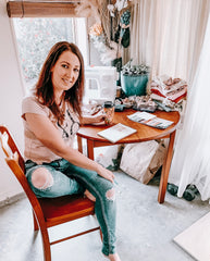 Danielle in her Home Office